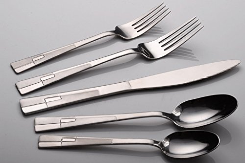 CiCiDi Silverware Set 18/0 Stainless Steel Flatware 5-Piece Set Fork Knife and - Flatware Sterling Silver Sell