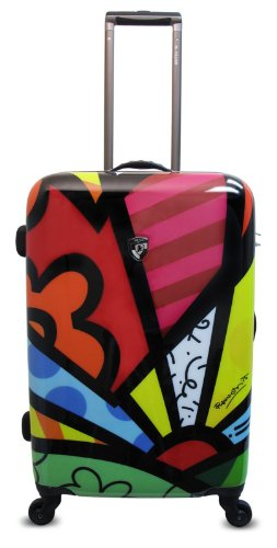 Heys USA Luggage Britto New Day 26 Inch Hard Side Suitcase, Multi-Colored, One - Heys Lightweight Luggage Usa