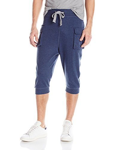 2(X)IST Men's Cargo Cropped Pant, Denim Heather, X-Large