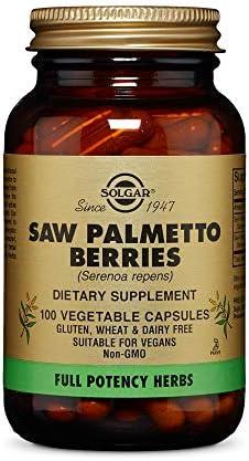 Solgar Full Potency Saw Palmetto Berries, 100 Vegetable Capsules