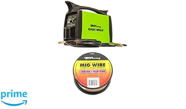 Forney Easy Weld 299 125FC Flux Core Welder, 120-Volt, 125-Amp and Flux Core Mig Wire, Mild Steel E71TGS, .030-Diameter, 2-Pound Spool