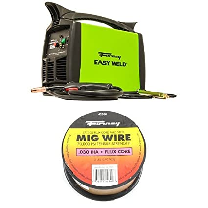Forney Easy Weld 299 125FC Flux Core Welder, 120-Volt, 125-Amp and Flux Core Mig Wire, Mild Steel E71TGS, .030-Diameter, 2-Pound Spool - - Amazon.com