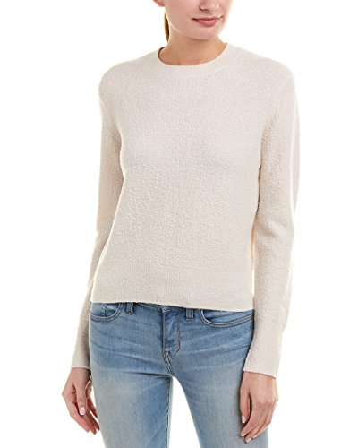 Vince Women's Boucle Pullover Sweater, Off White, S