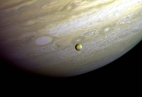 Jupiter's Moon Io Hi Gloss Space Poster