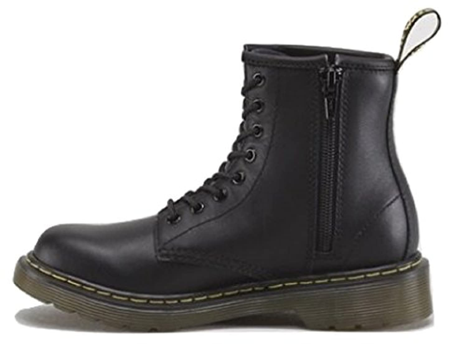 Dr Martens - Brooklee Delaney; Infants / Juniors / Kids Leather Upper, Lace Up Casual / Fashion Boots with Side Zip and Air-Cushioned Sole