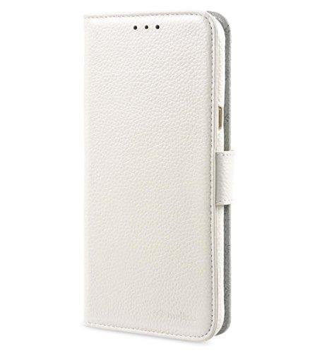 Melkco carpetas de libros de tipo premium de piel de cajas con Premium Piel mano Craf Ted Protección, delgado, Premium de sensación White LC
