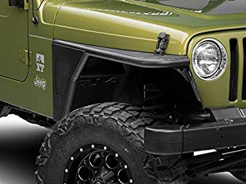 Amazon Com Barricade Off Road Rear Fender Flares In Durable Steel For Jeep Wrangler Tj 1997 2006 Automotive
