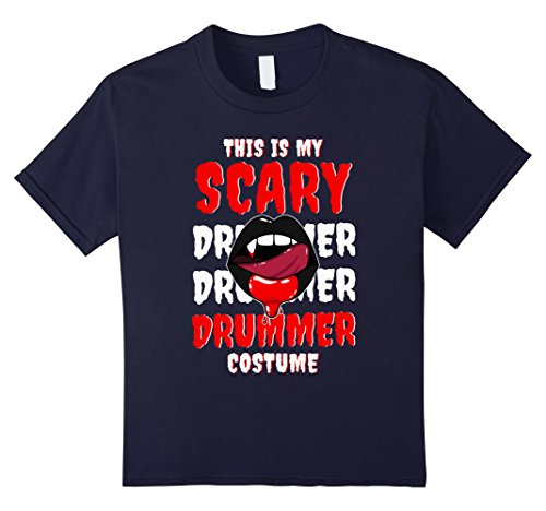 Womens Drummer Boy Costume (Kids This Is My Scary Drummer Costume Cool T-shirts 12 Navy)
