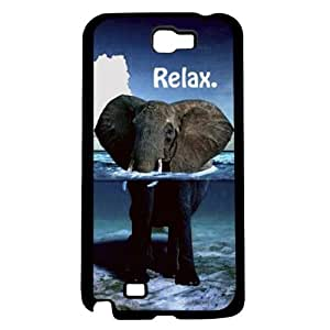 Relaxing Elephant Hard Snap On Case (Galaxy Note 2 II)