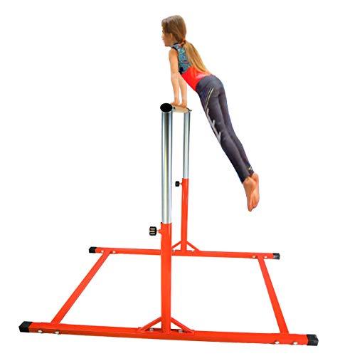 X-Factor 5 Ft Athletic Horizontal Bar Teens Adjustable Gymnastics Training Kip Bars RED