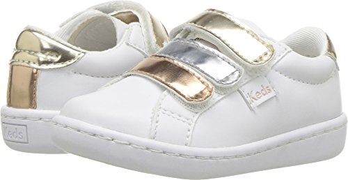 Keds Girls' Ace 3V Sneaker, Triple Metallc, 075 M US (Ace Foam)