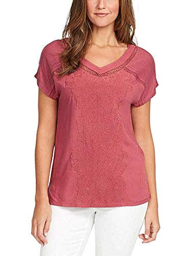 Gloria Vanderbilt Ladies' V-Neck Embroidered Top (XL, Dry (Fashion Bug Clothing Store)