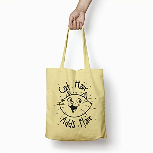 Women Cat Bags For Shopper Gifts Hair Flair Tote Printed Adds Bag Plem Cotton qxawgnt