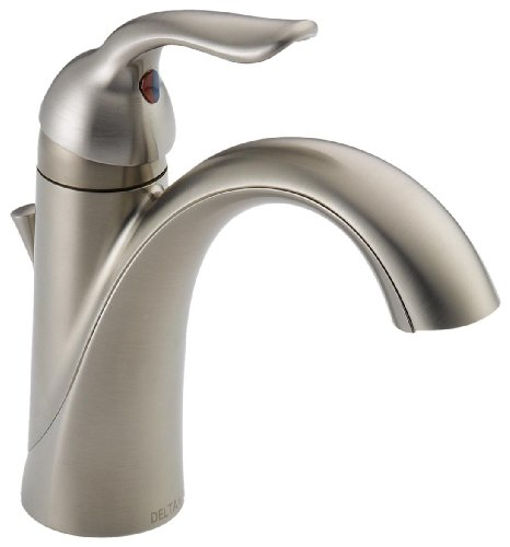 Delta Lahara 538-SS-DST Single Handle Centerset Bathroom Faucet, Stainless (538 Single)