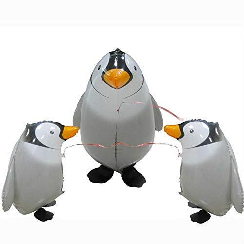 S Birthday Party - 43 58cm Walking Penguin Foil Balloon Birthday Wedding Party Decor Modeling Inflatable Air Balloons - Character Bubble Ball Balloon String Spiderman Figure Balloon Foil Pump ()