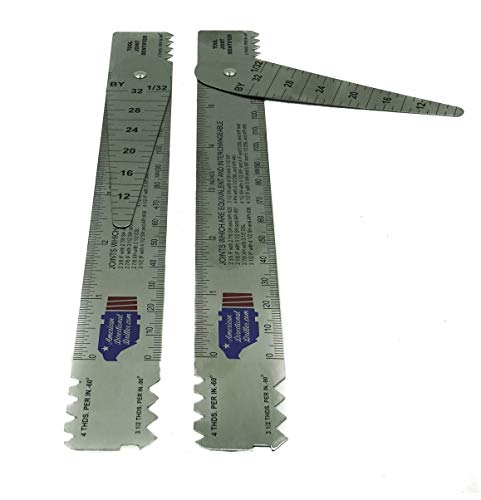 Drill Pipe Connection Thread Identification Ruler with Nozzle Gauge (2)