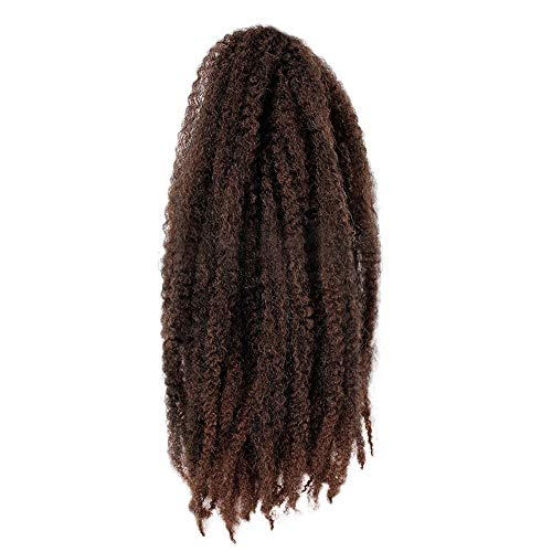 Price comparison product image Women's Twist Braids Wigs Extensions Synthetic Hair Wig Charming Wig Natural Marley Braids Natural Wave Long Curly Heat Resistant synthetic Wig (45cm