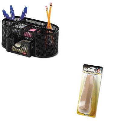 KITROL1746466SOF100M - Value Kit - Softalk Standard Telephone Shoulder Rest (SOF100M) and Rolodex Mesh Pencil Cup Organizer (ROL1746466) by Softalk