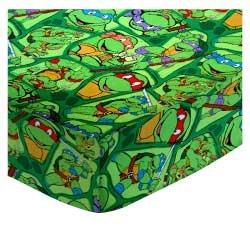 SheetWorld FLAT Crib / Toddler Sheet - Ninja Turtles - Made In USA C-FL-W872