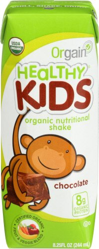 Orgain Kids Protein Organic Nutritional Shake, Chocolate, 8.25 Ounce, 12 Count
