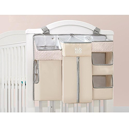 OOFYHOME Storage Bag Baby Nursery Organizer Bed Hanging Bag Diaper Organizer With Large Pockets Perfect Bedside Caddy for Baby Crib Can be Washed , B by OOFYHOME