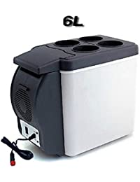 SL&BX Car refrigerator,Mini refrigerator car appliance 6l car dual car fridge for bedroom, Office or dorm portable mini fridge-gray 32x17.5x27cm(13x7x11inch)