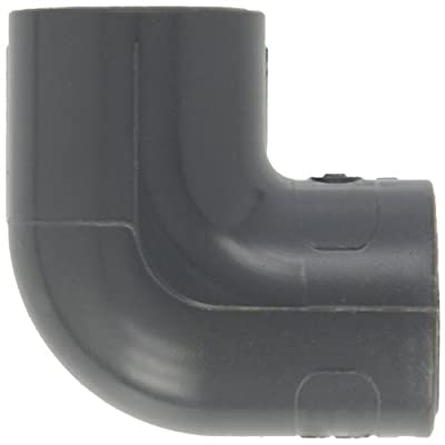 GF Piping Systems PVC Pipe Fitting, 90 Degree Elbow, Schedule 80, Gray, Slip Socket