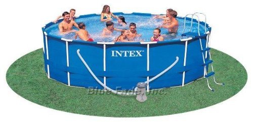 Pool Round Frame (Intex Soft Sided Metal Frame 15' Round Swimming Pool)