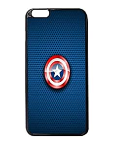 Captain America Shield Logo Art Durable Unique Design Hard Back Case Cover For iPhone 6 Plus - 5.5 Kimberly Kurzendoerfer