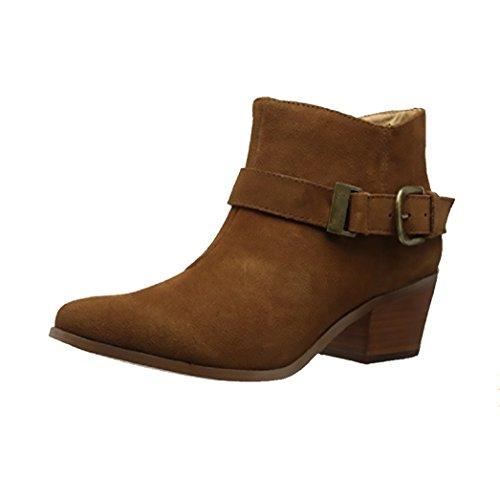 980cd70409a9 Galleon - Kensie Womens Garrett (Garry) Ankle Boots-Brown (7)