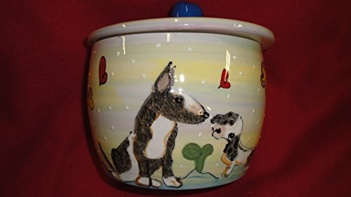 - Pit Bull Terrier Treat Jar, Personalized at no Charge. Signed by Artist, Debby Carman.
