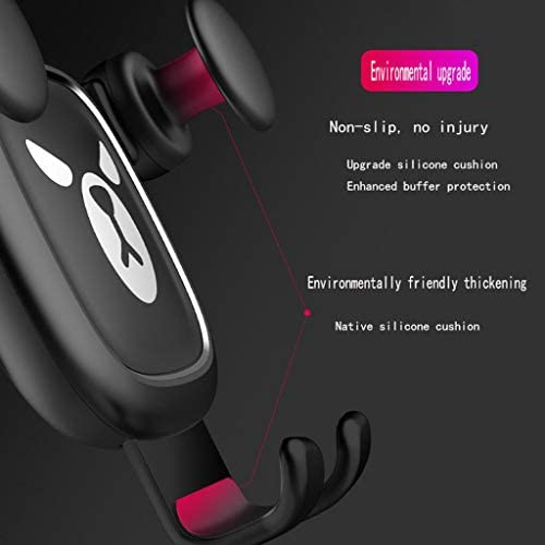 KHFFH 携帯電話ホルダー- 携帯電話スタンド、ユニークなデザインのカーベントマウントモバイル携帯電話スタンドホルダー、アップグレードバージョン360°回転車の電話マウント (Color : A, Size : 11.9x8.7x7.6cm)