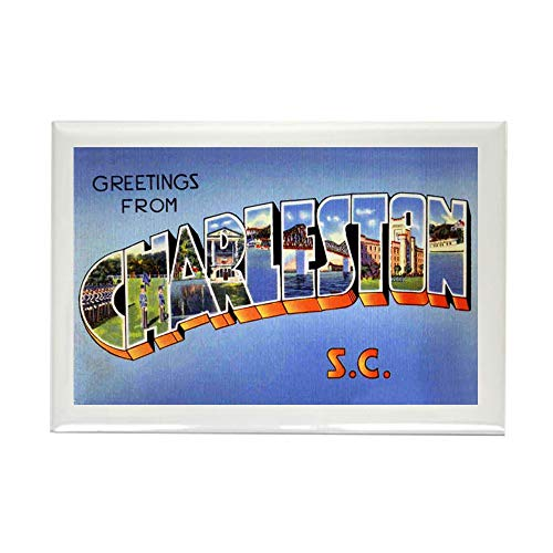 CafePress Charleston South Carolina Greetings Rectangle Magn Rectangle Magnet, 2