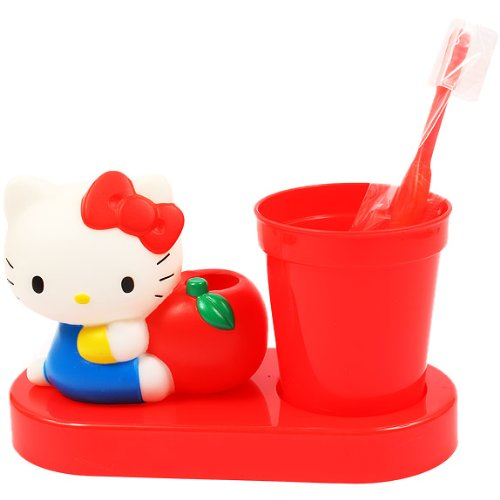 Hello Kitty Die-Cut Tooth Brush Set: Red