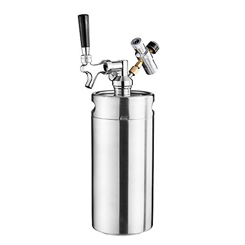 Cool Bank 128 Ounce Homebrew Keg System Kit for Home Brew Beer   with a Cool Bank Beer Dispensor Cool Bank Mini CO2 Regulator and a Cool Bank 128 Ounce Stainless Steel Keg