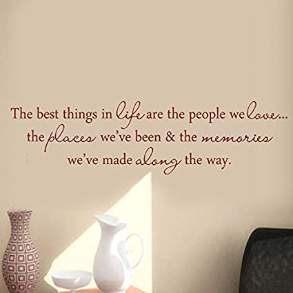 Vinyl Wall Quotes Unique The Best Thing In Life Vinyl Wall Decal Wall Quotes Wall Letters