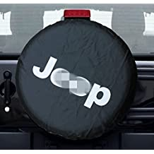 """Spare Tire Cover PVC leather For Jeep Fits Entire Wheel dia 27""""-29"""""""