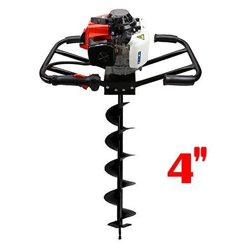 (XtremepowerUS 2-Man 63CC 2-Stroke Planting Gas Post Hole Digger 3HP EPA Motor Fence Digging (Digger + 4