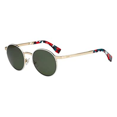 199035d837f0 Amazon.com  Fendi FF0090-S-D3O-85-49 Ladies FF 0090-S D3O 85 Gold White  Sunglasses  Shoes