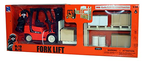 New Ray 1:14 Scale Remote Control Fork Lift with Pallets and Racking
