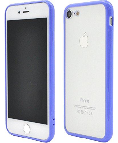 あえぎ識別するデッドロックPLATA iPhone7 / iPhone8 ケース バンパー クリア カバー iPhone アイフォン 7 8 【 パープル 紫 むらさき 】