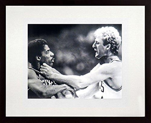 (Boston Celtics Larry Bird vs. Philadelphia 76ers Julius Erving 11x14 Photograph (SG Value Series))