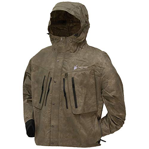 Frogg Toggs Men's Tekk Toad Breathable Waterproof Rain/Wading Jacket, Stone, XX-Large