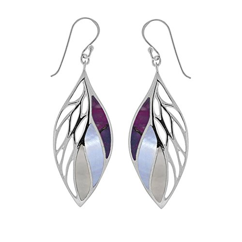(Boma Jewelry Sterling Silver Purple Turquoise, Purple Mother-of-Pearl, Mother-of-Pearl Leaf)