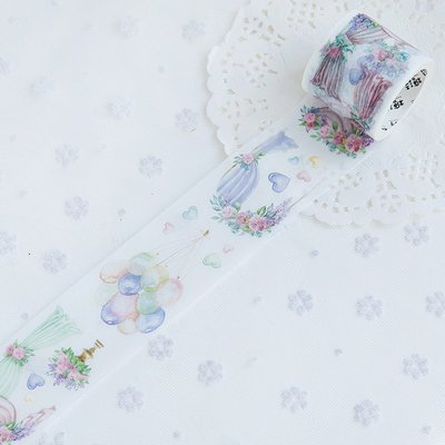 UltimaFio - Beautiful bridal flower Wedding dress series Washi Tape Adhesive Craft Tape DIY Scrapbooking Sticker Masking Craft Tape [4] ()