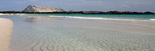 Posterazzi PPI151592S La Cinta Beach with Tavolara Island in the background San Teodoro Province of Olbia-Tempio Sardinia Italy Poster Print 27 x 9