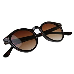 zeroUV - Vintage Inspired Small Round Circle Key Hole Retro P3 Sunglasses with Rivets