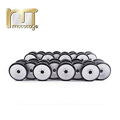 Mato Metal Road Wheel Set with Rubber treads Tires for Heng Long 3818-1 1 16 RC Germany Tiger 1 Tank Model Metal Upgrade Parts: Sports & Outdoors