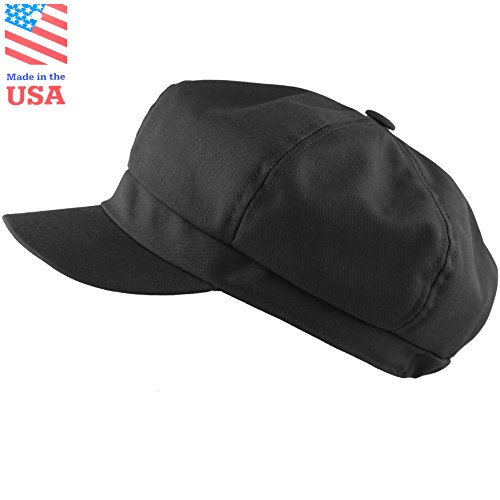 THE HAT DEPOT Made In USA Cotton Girls(7-10) 6 Panel Newsboy Gatsby Apple Jack Cabbie - Gatsby Usa
