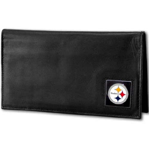 NFL Pittsburgh Steelers Deluxe Leather Checkbook Cover (Deluxe Leather Nfl)